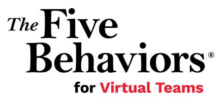 Five Behaviors for Vitual Teams